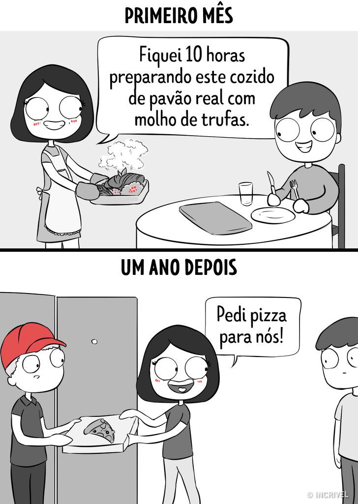 casal pedindo pizza